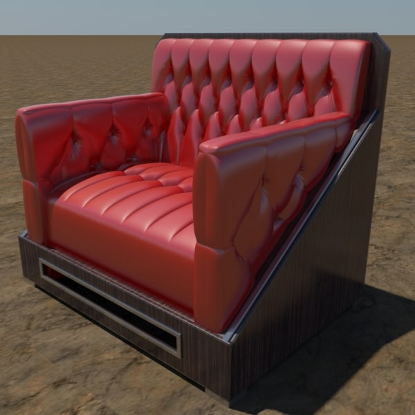 3d modern tufted chair