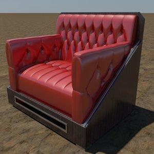3d modern tufted chair
