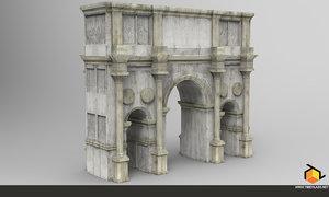 3ds max triumph arch