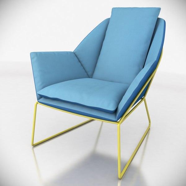 3ds max new york armchair saba