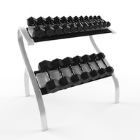 dumbbell set 3d model