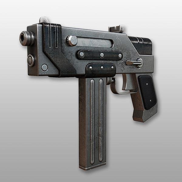 3d submachine gun kwg-001