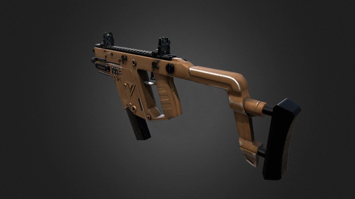 3d model smg vector