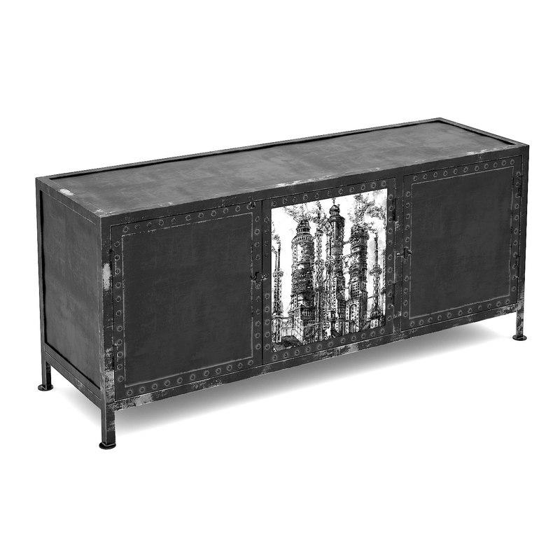 max black white tv cabinet