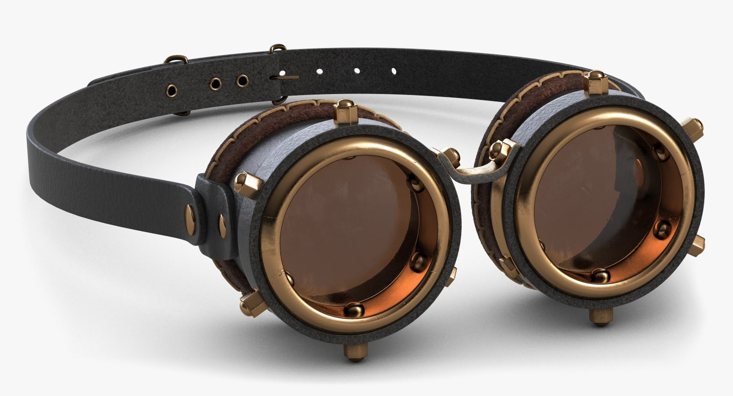 steampunk googles 3d 3ds