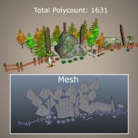 super environment pack games 3d model
