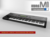 digital synthesizer korg m1 3d model