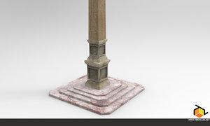 3d obelisk asset tiberlab model