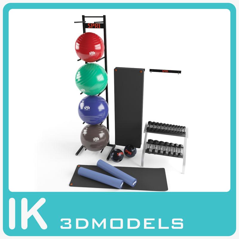 3d exercise equipment model