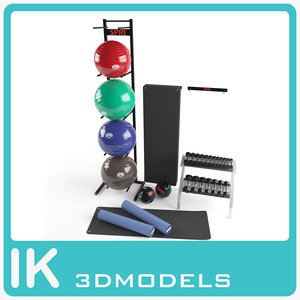 3d exercise equipment model