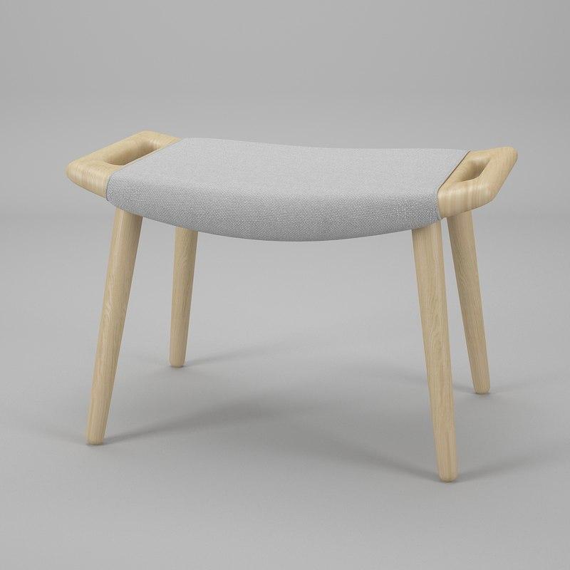 3d wegner stool chair pp model