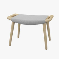 3d wegner stool chair pp model