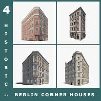 3d model 4 historic berlin corner