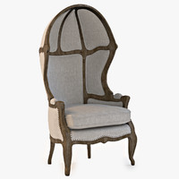 Versailles Burlap Backed Chair