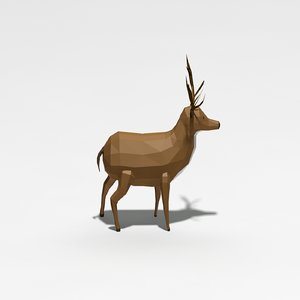 3d model deer cartoon