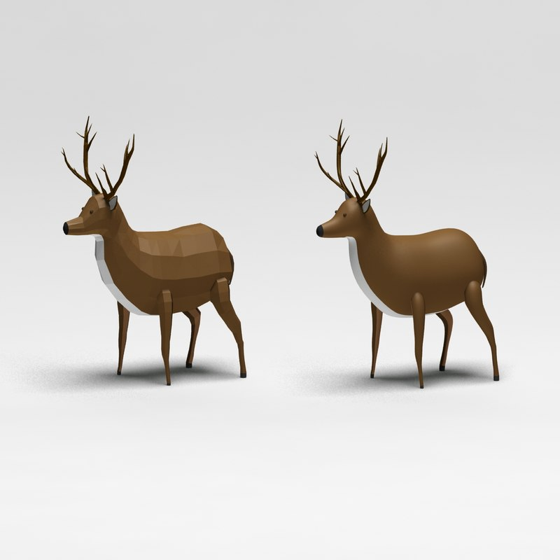3d deer cartoon