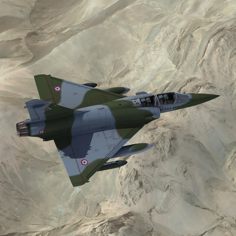 mirage2000d strike aircraft 3d model