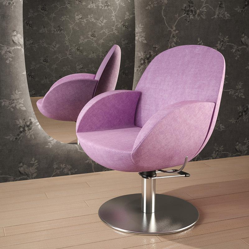 3d vida-chair chair hair model
