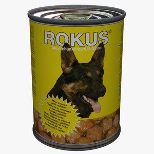 dog food tin 3d max