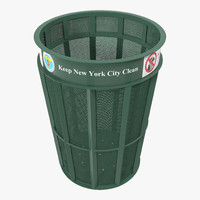 new york garbage bin 3d model