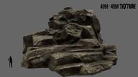 mountain mount 3d obj