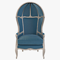 Versailles Burlap Backed Blue Chair