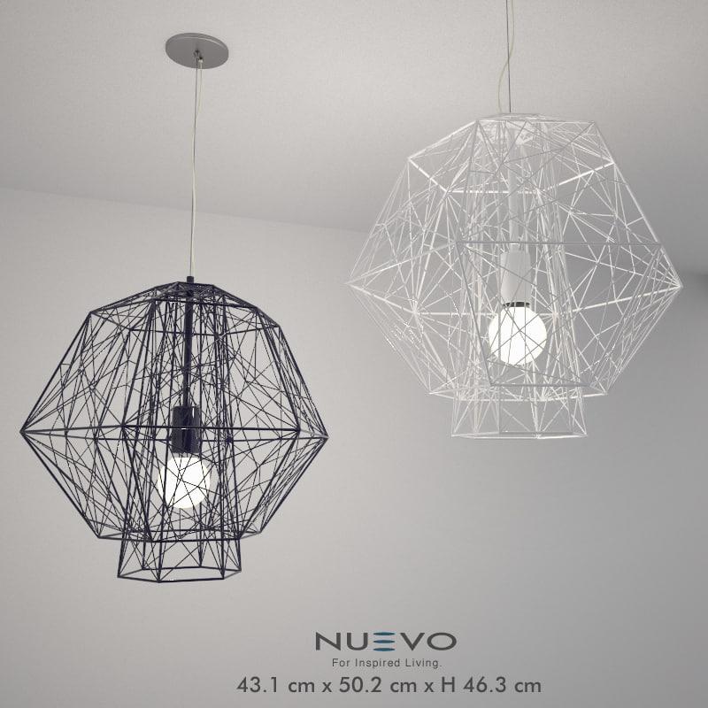 3d model nuevo pendant lamp