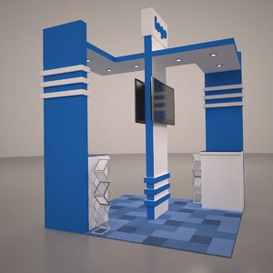 3ds max exhibition booth design