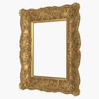 3d gilt painting frame