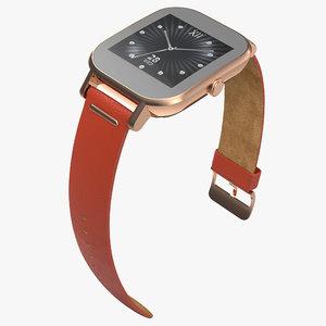 smartwatch asus zenwatch 2 3d model