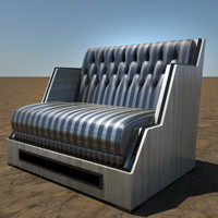3d modern tufted chair model