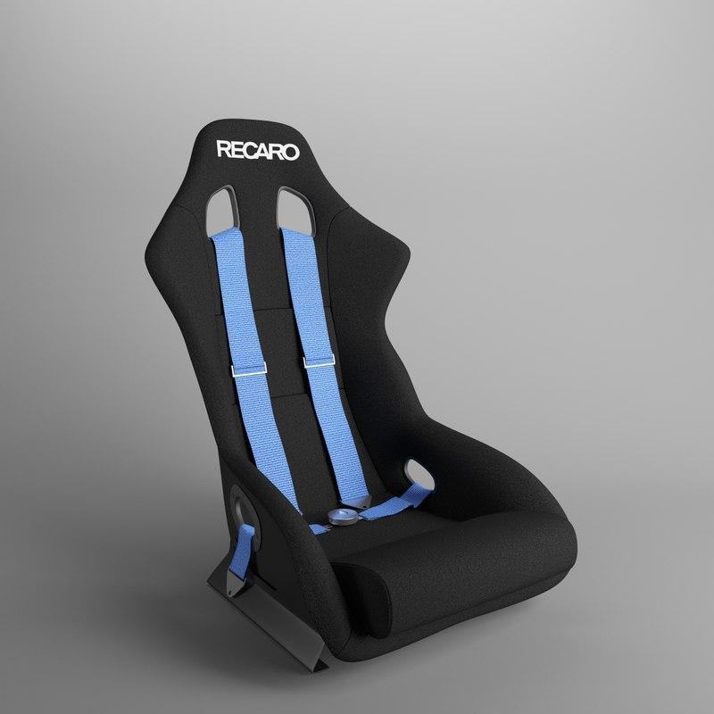 recaro racing seat 3d max