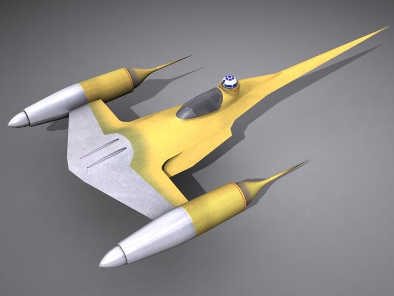 naboo starfighter 3d max