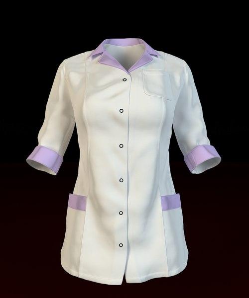 3d women s medical shirt