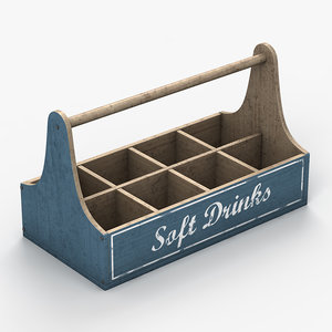 3d drinks crate