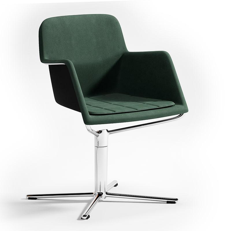 3d model peek chair bla station