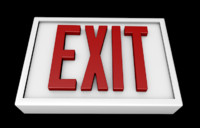 3d exit sign
