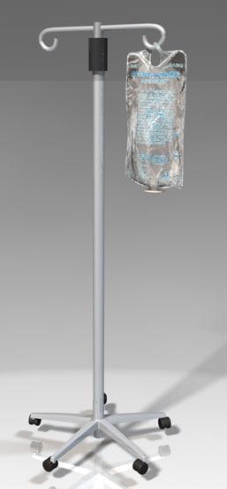 intravenous iv bag 3d model