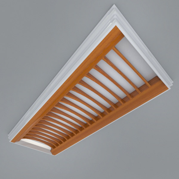 Industrial Ceiling Light 3ds Max: 3ds Max Recessed Ceiling Element Lighting