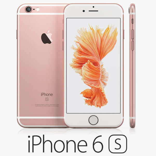 3d Model Iphone 6s Rose Gold