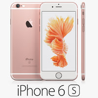 3d model iphone 6s rose gold