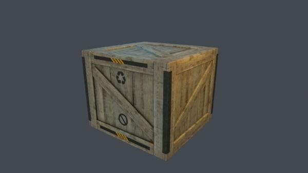 3d model games wooden box