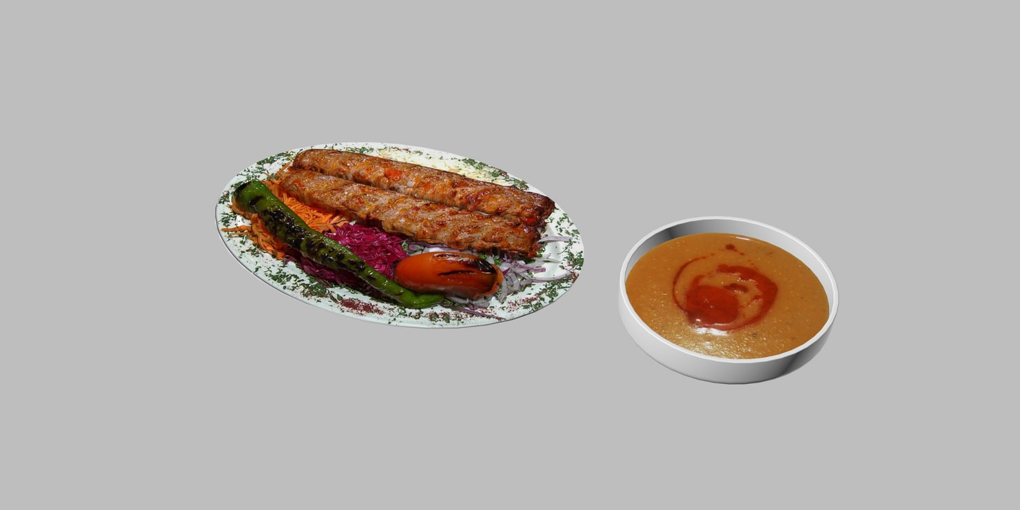3d model turkish adana kebap