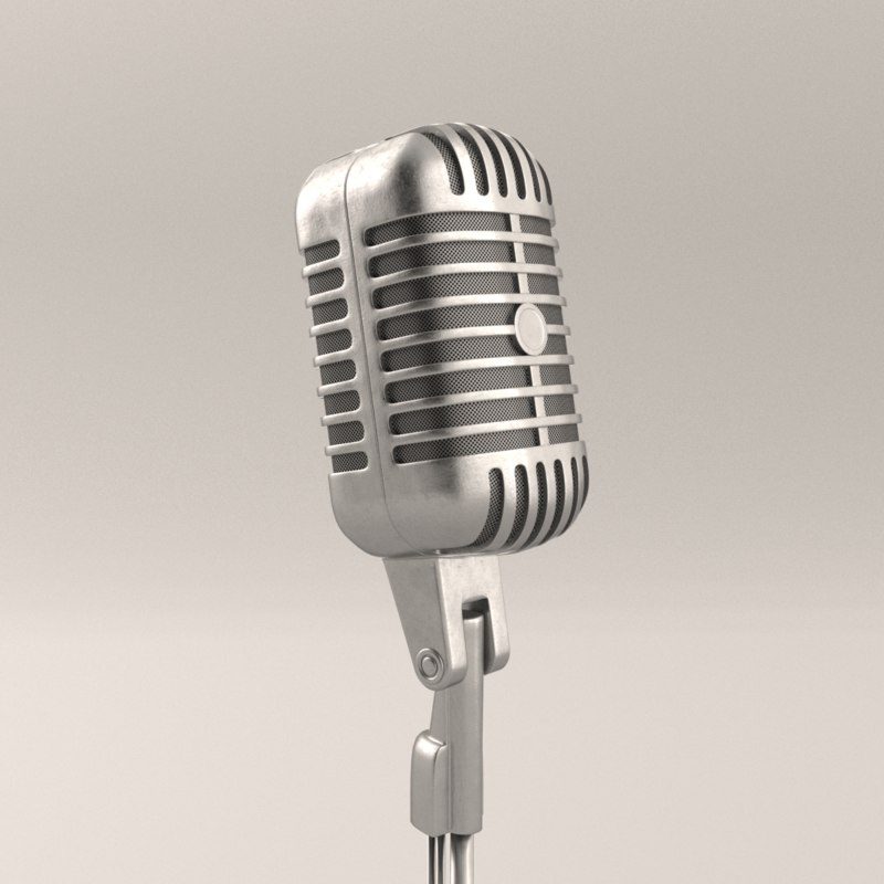 3d model microphone blender cycles
