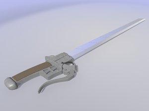 3d 3ds attack titan sword