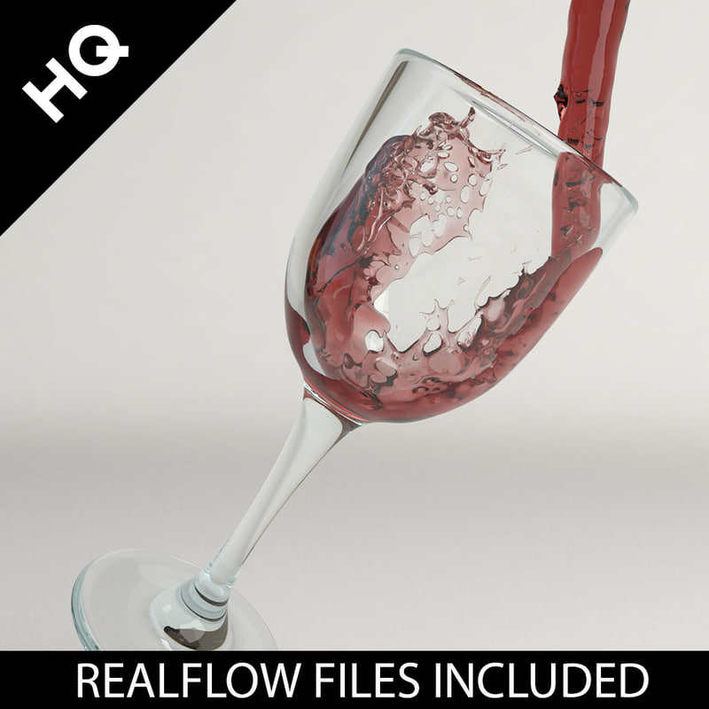 3d model wine pouring realflow flow