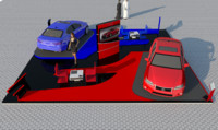 3d model stand