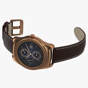 3d model lg watch urbane 2