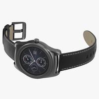 LG Watch Urbane 2 Silver 3D Model