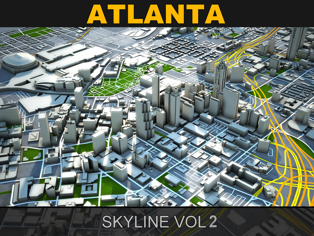 3d model of atlanta skyline vol2